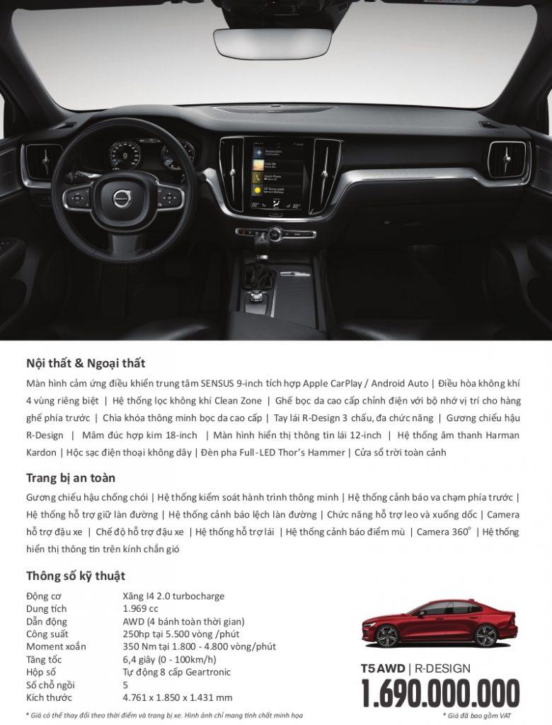 Thông số kỹ thuật Volvo S60 2021
